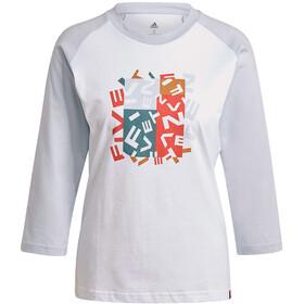 adidas Five Ten Graphics Langarm T-Shirt Damen weiß